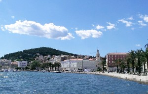 City of Split, Croatia, with the forest park, Marjan, in the background (photo borrowed from here).